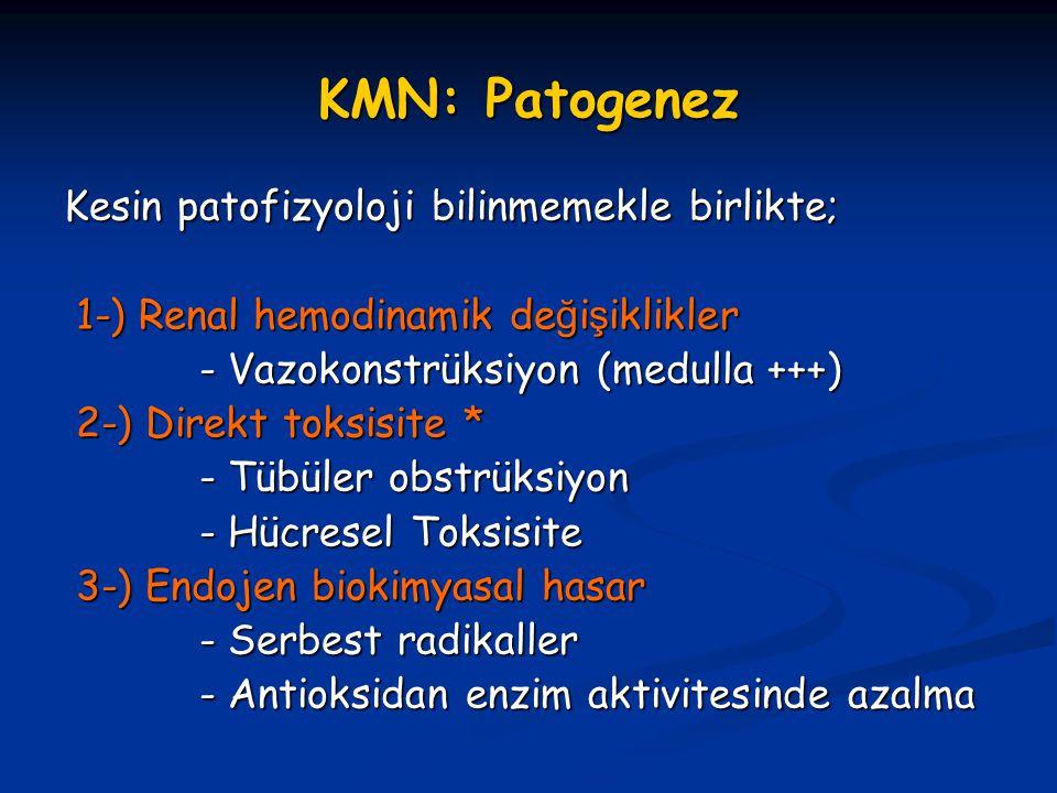 KMN: Patogenez Kesin patofizyoloji bilinmemekle birlikte;