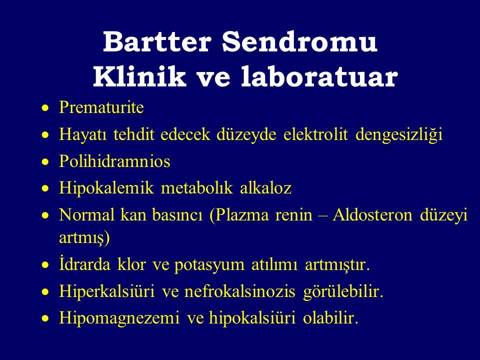 Bartter Sendromu Klinik ve laboratuar