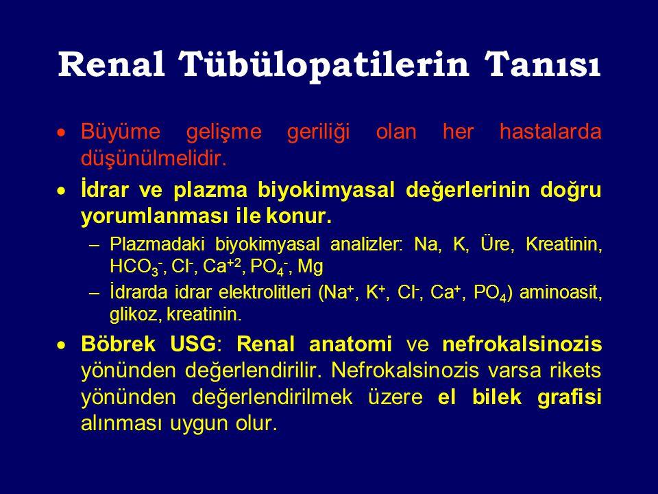 Renal Tübülopatilerin Tanısı