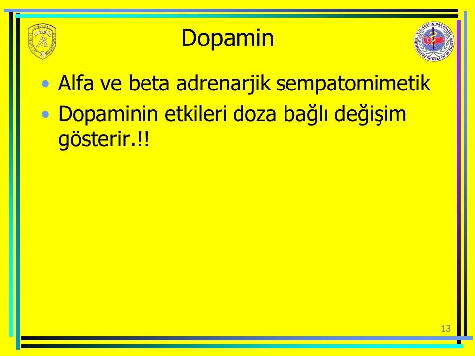 Dopamin Alfa ve beta adrenarjik sempatomimetik