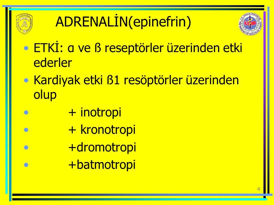 ADRENALİN(epinefrin)