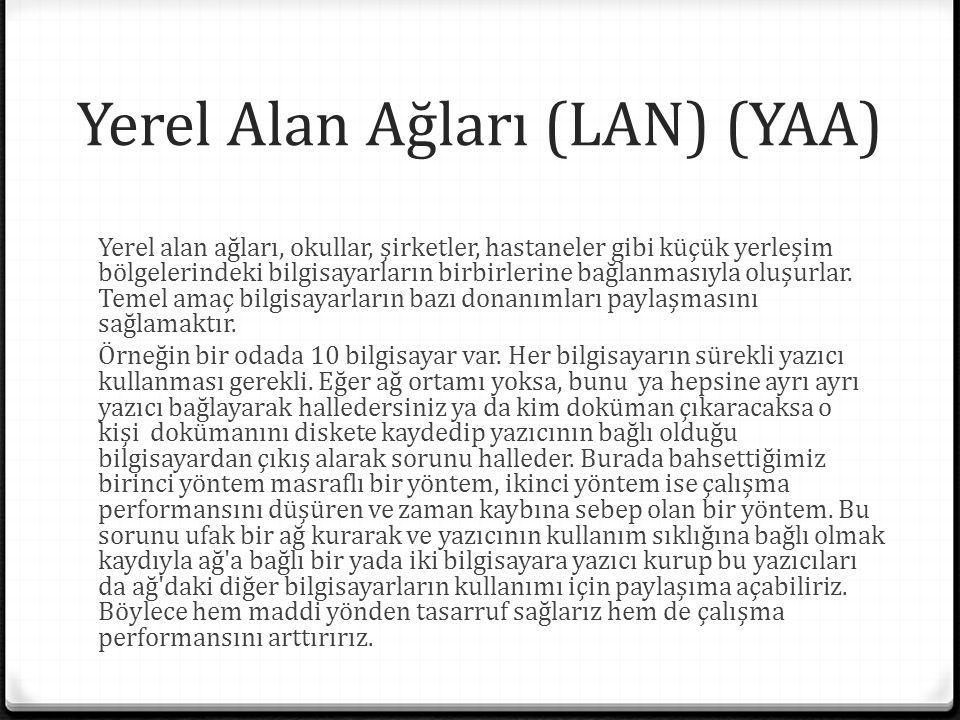 Yerel Alan Ağları (LAN) (YAA)