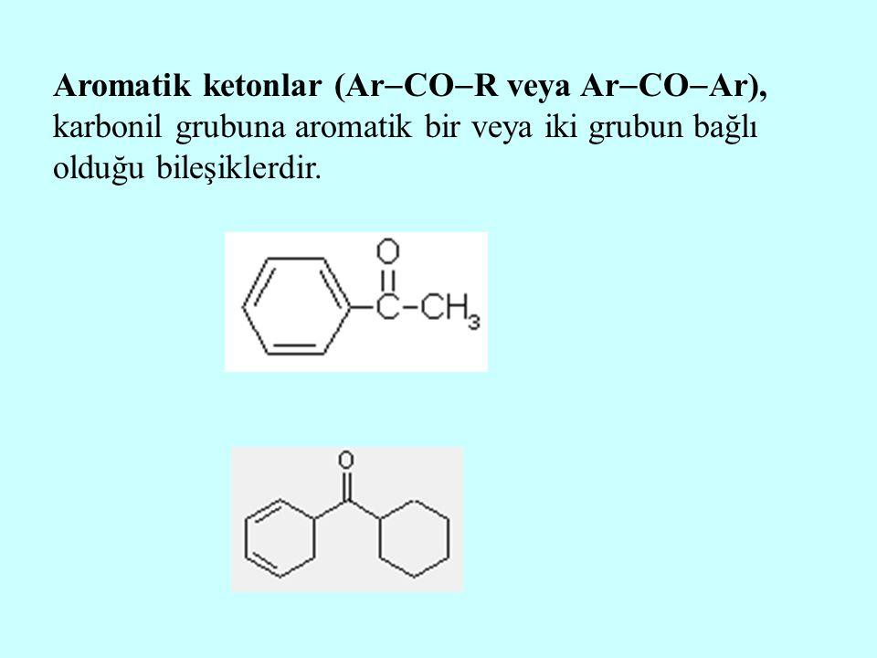 Aromatik ketonlar (ArCOR veya ArCOAr), karbonil grubuna aromatik bir veya iki grubun bağlı olduğu bileşiklerdir.