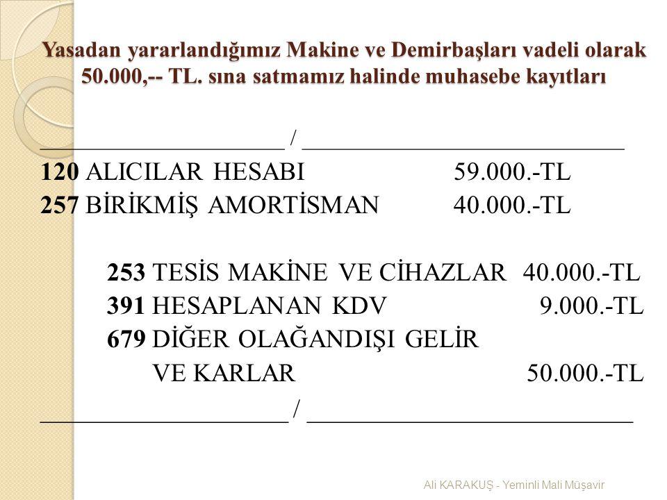 257 BİRİKMİŞ AMORTİSMAN 40.000.-TL