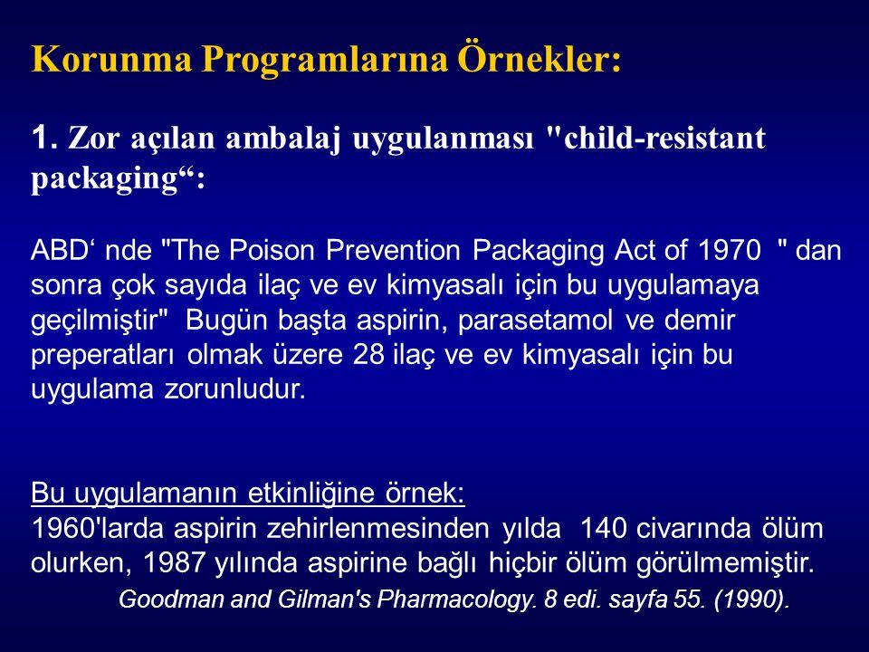 Korunma Programlarına Örnekler: