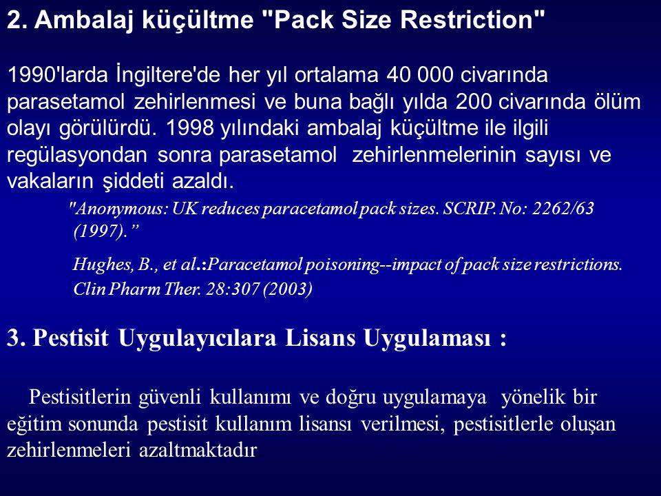 2. Ambalaj küçültme Pack Size Restriction