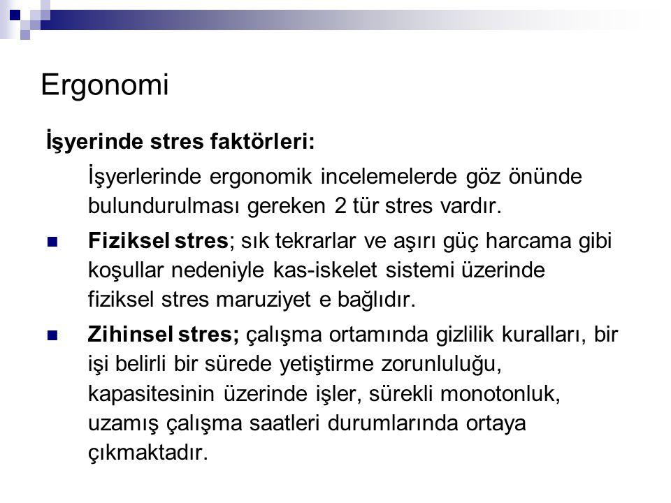 Ergonomi İşyerinde stres faktörleri: