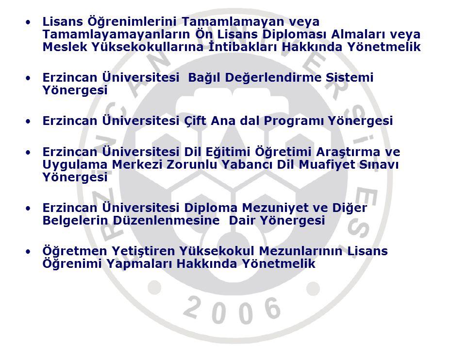 Lisans Öğrenimlerini Tamamlamayan veya Tamamlayamayanların Ön Lisans Diploması Almaları veya Meslek Yüksekokullarına İntibakları Hakkında Yönetmelik