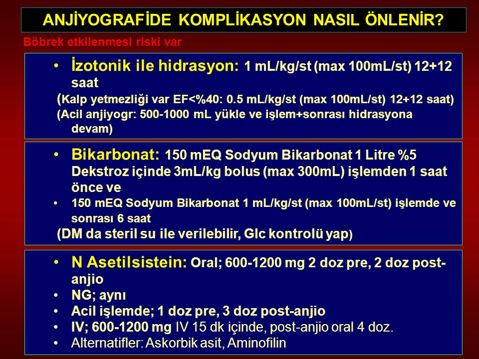 ANJİYOGRAFİDE KOMPLİKASYON NASIL ÖNLENİR