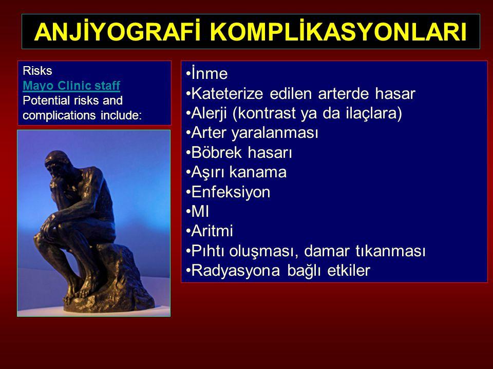 ANJİYOGRAFİ KOMPLİKASYONLARI