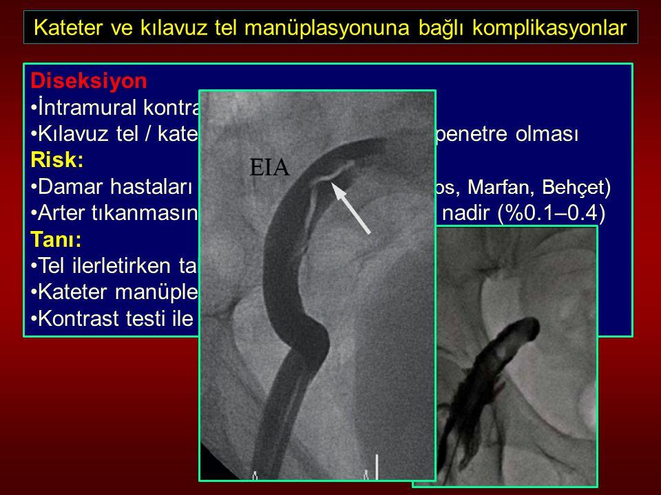 Kateter ve kılavuz tel manüplasyonuna bağlı komplikasyonlar