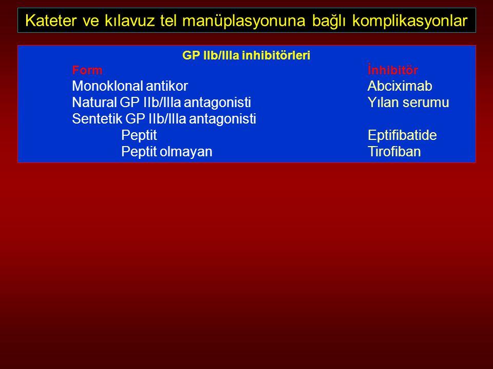 GP IIb/lIla inhibitörleri
