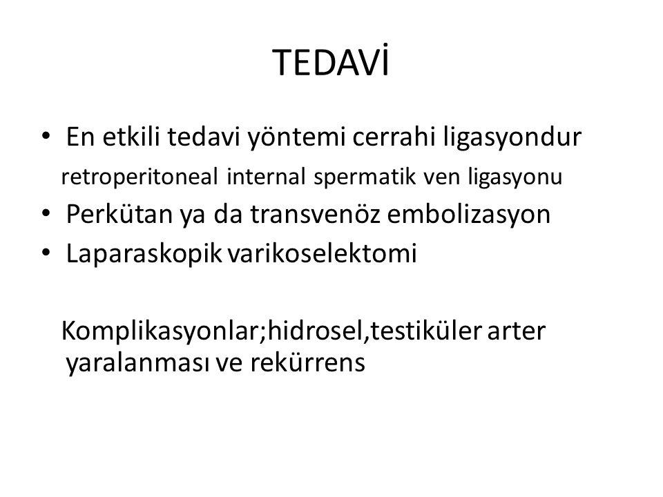 TEDAVİ En etkili tedavi yöntemi cerrahi ligasyondur