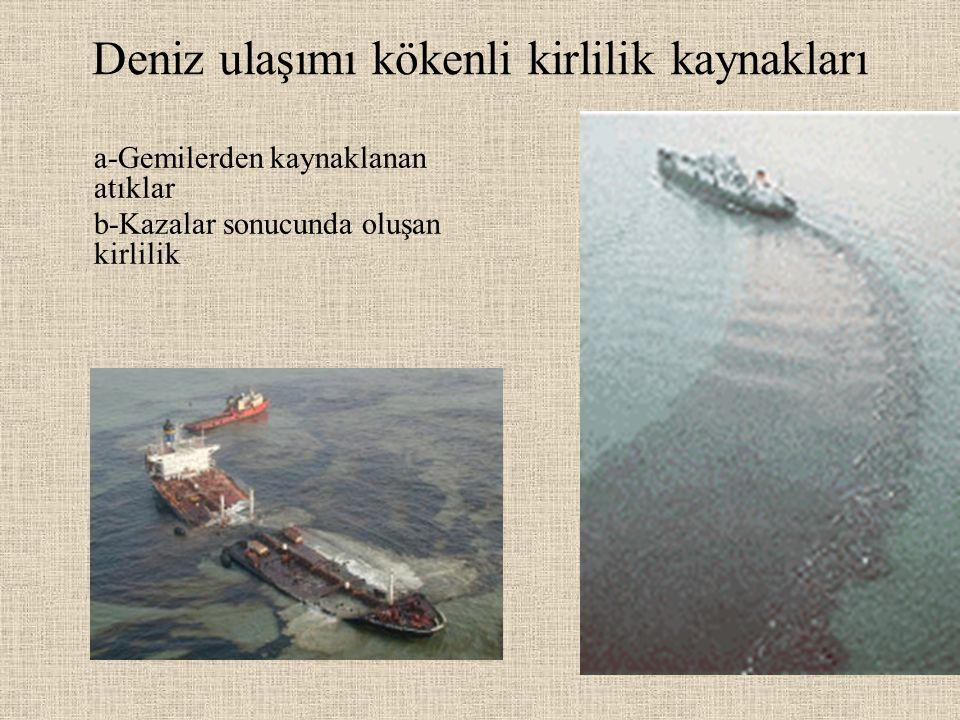 Deniz ulaşımı kökenli kirlilik kaynakları