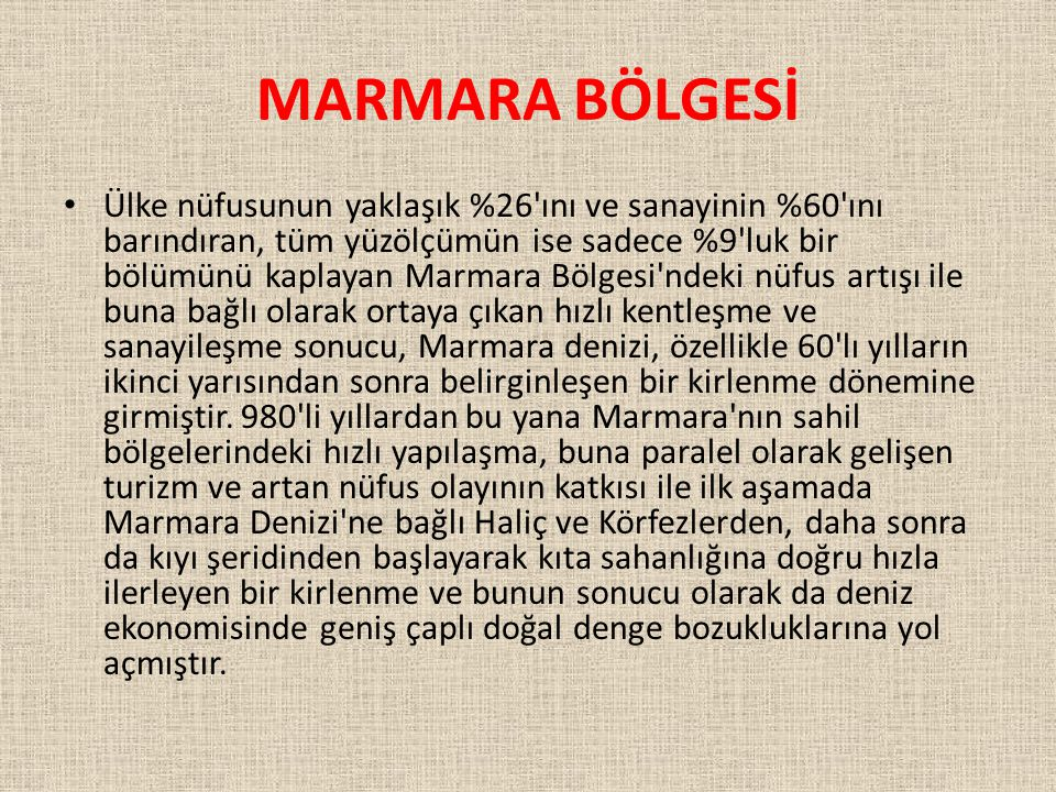MARMARA BÖLGESİ