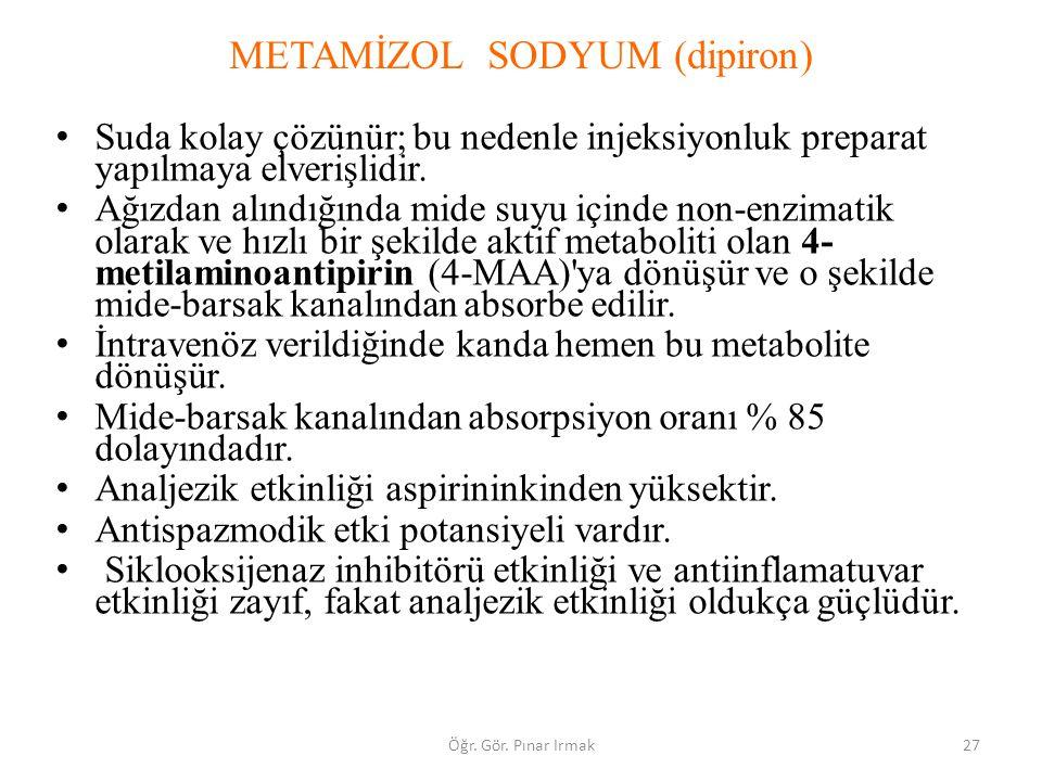 METAMİZOL SODYUM (dipiron)