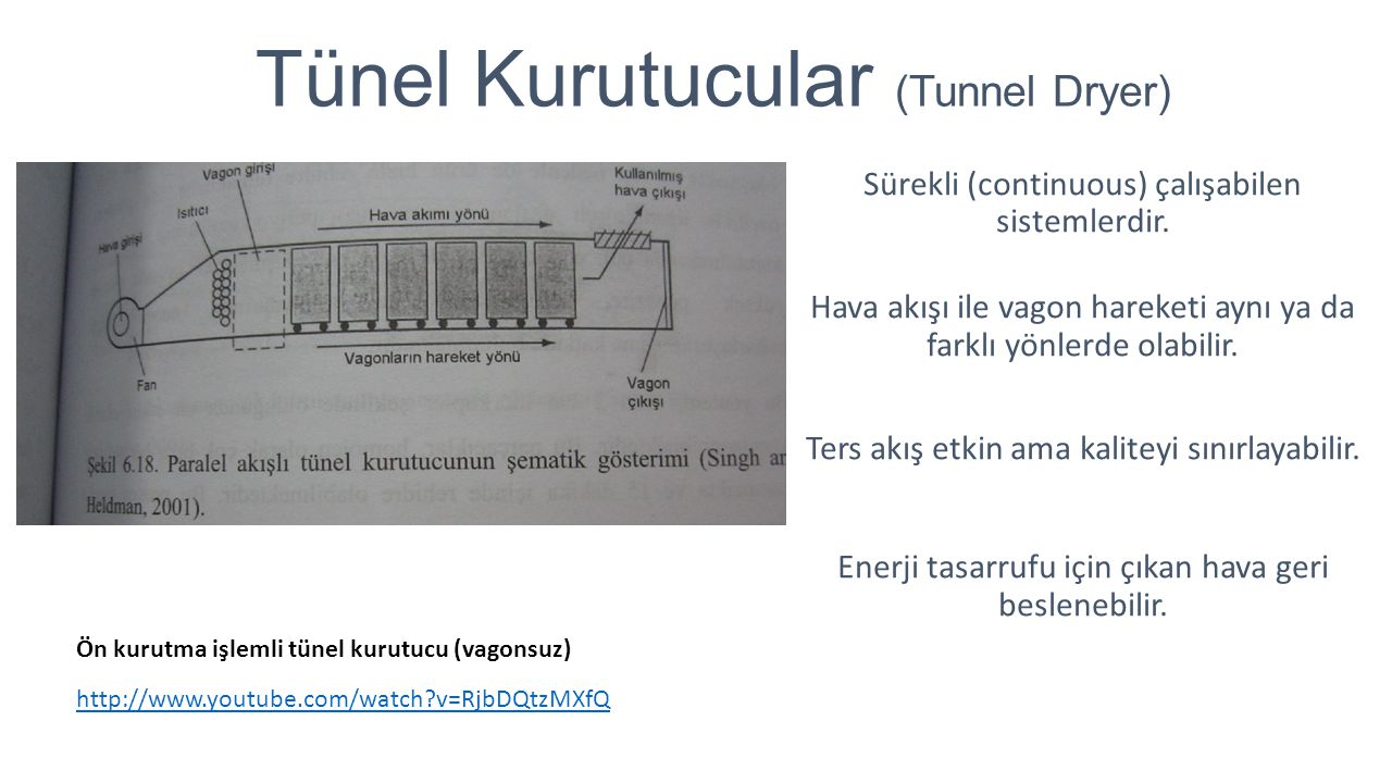 Tünel Kurutucular (Tunnel Dryer)