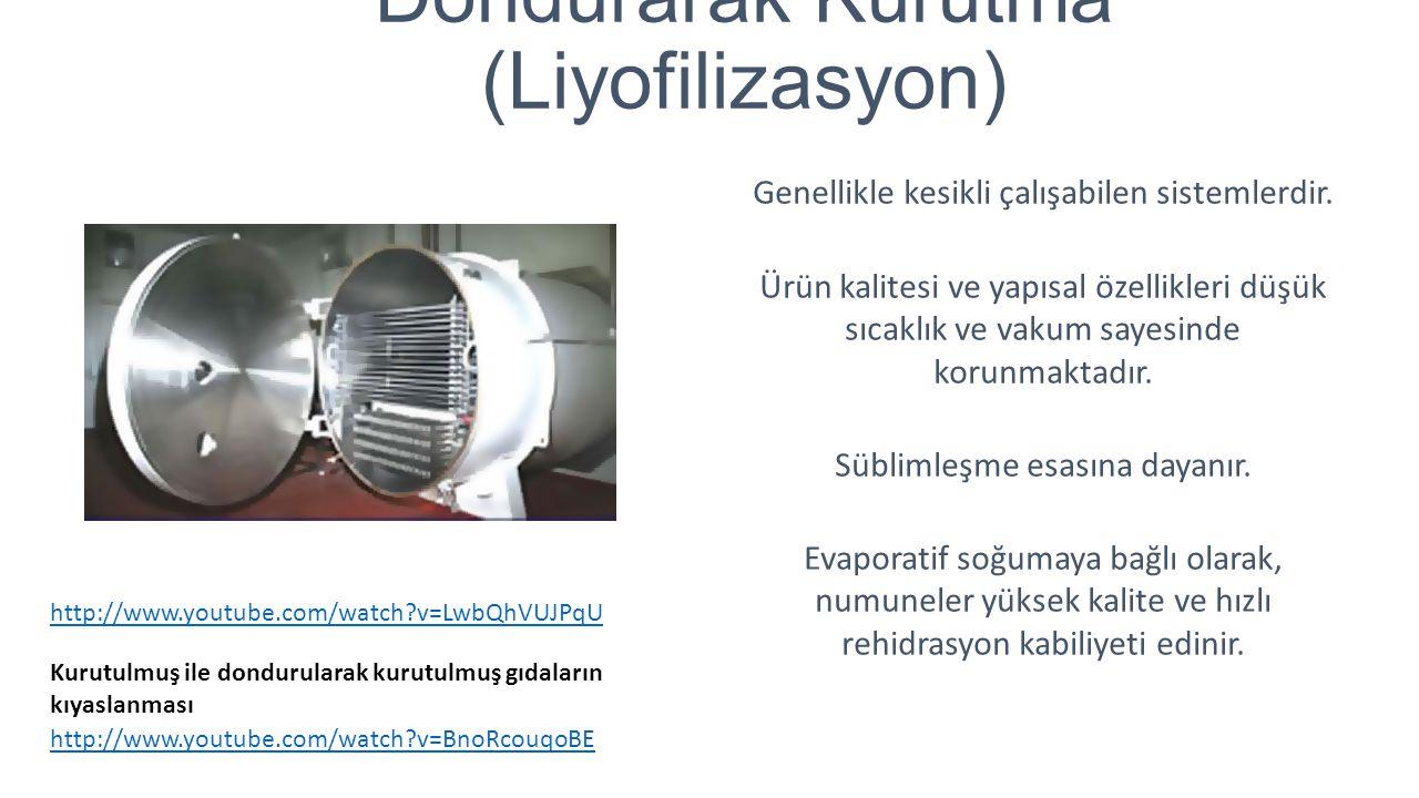 Dondurarak Kurutma (Liyofilizasyon)