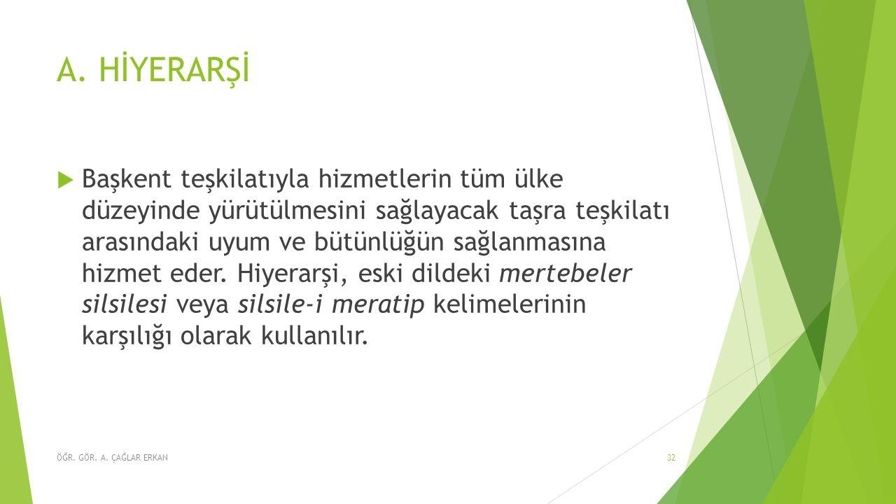 A. HİYERARŞİ