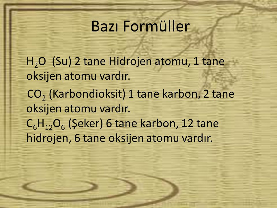 Bazı Formüller