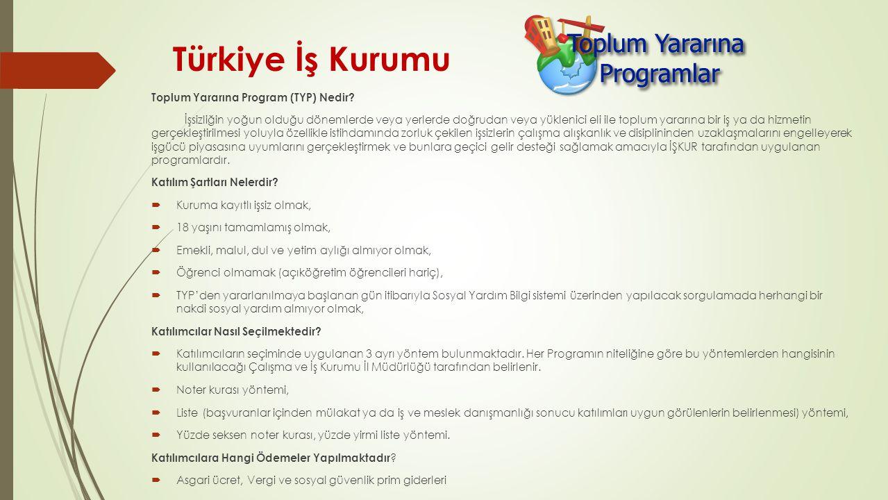Türkiye İş Kurumu Toplum Yararına Program (TYP) Nedir