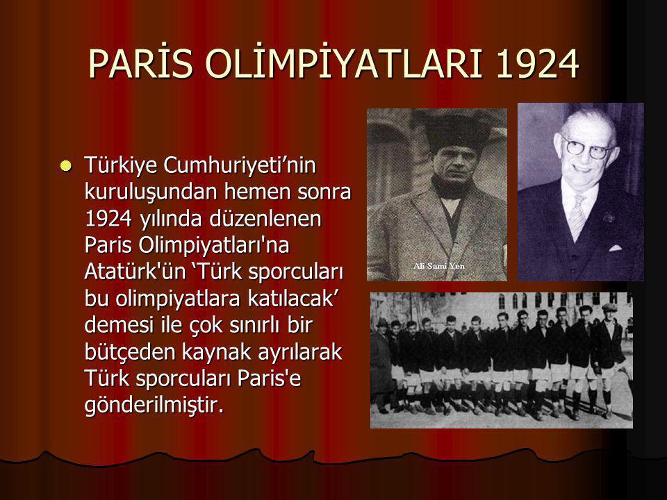 PARİS OLİMPİYATLARI 1924