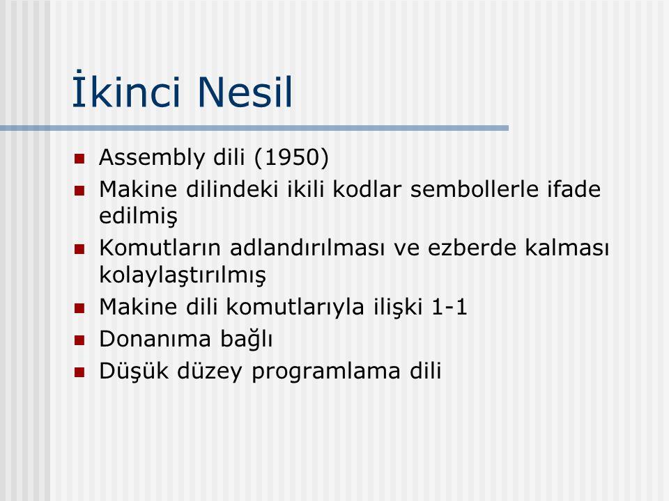 İkinci Nesil Assembly dili (1950)