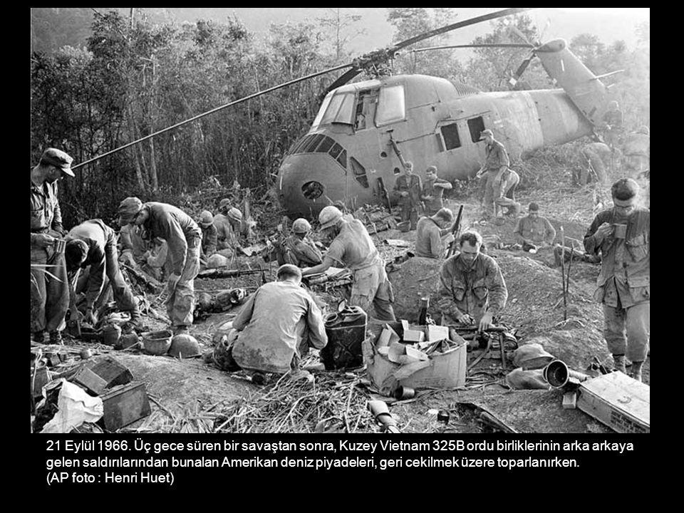 21 Eylül 1966. Üç gece süren bir savaştan sonra, Kuzey Vietnam 325B ordu birliklerinin arka arkaya