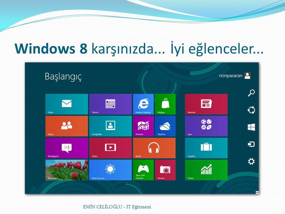 Windows 8 karşınızda... İyi eğlenceler...