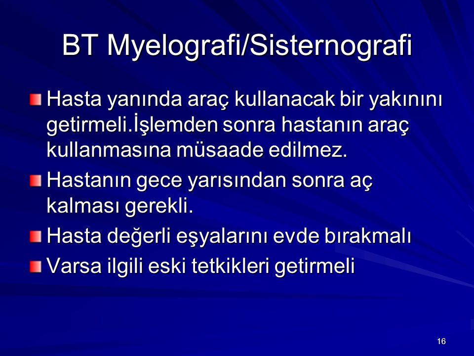 BT Myelografi/Sisternografi