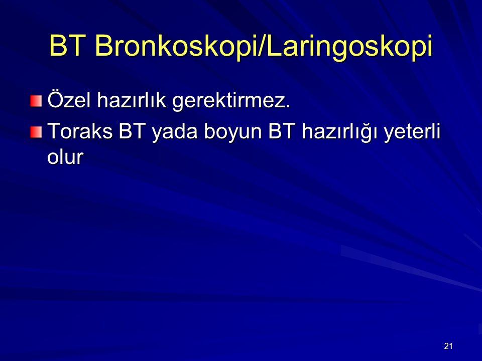 BT Bronkoskopi/Laringoskopi
