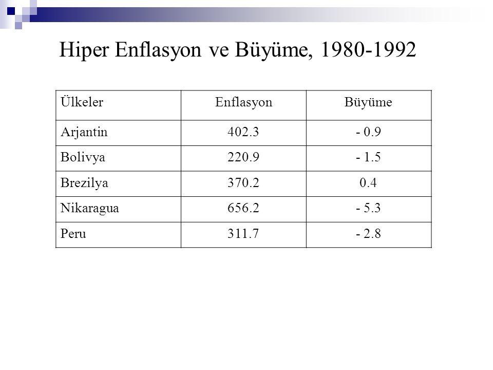 Hiper Enflasyon ve Büyüme, 1980-1992