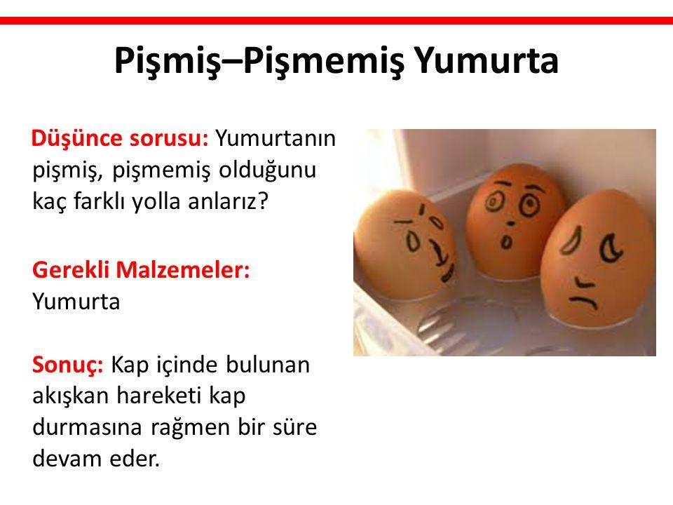 Pişmiş–Pişmemiş Yumurta