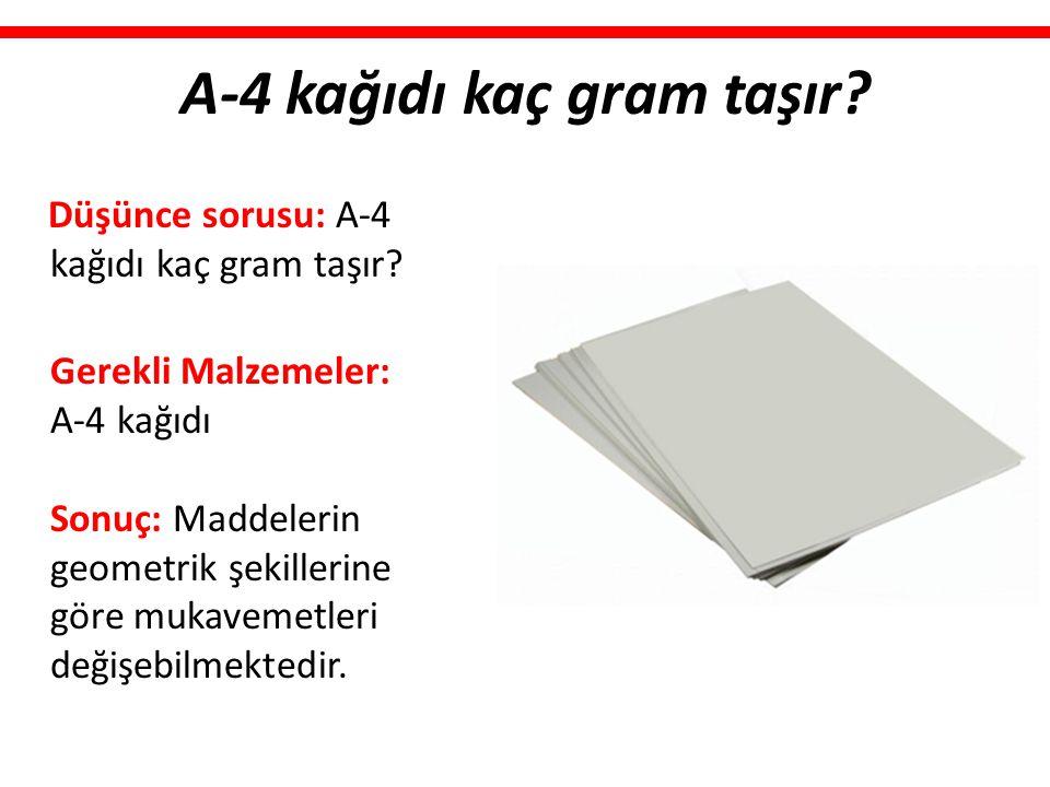 A-4 kağıdı kaç gram taşır