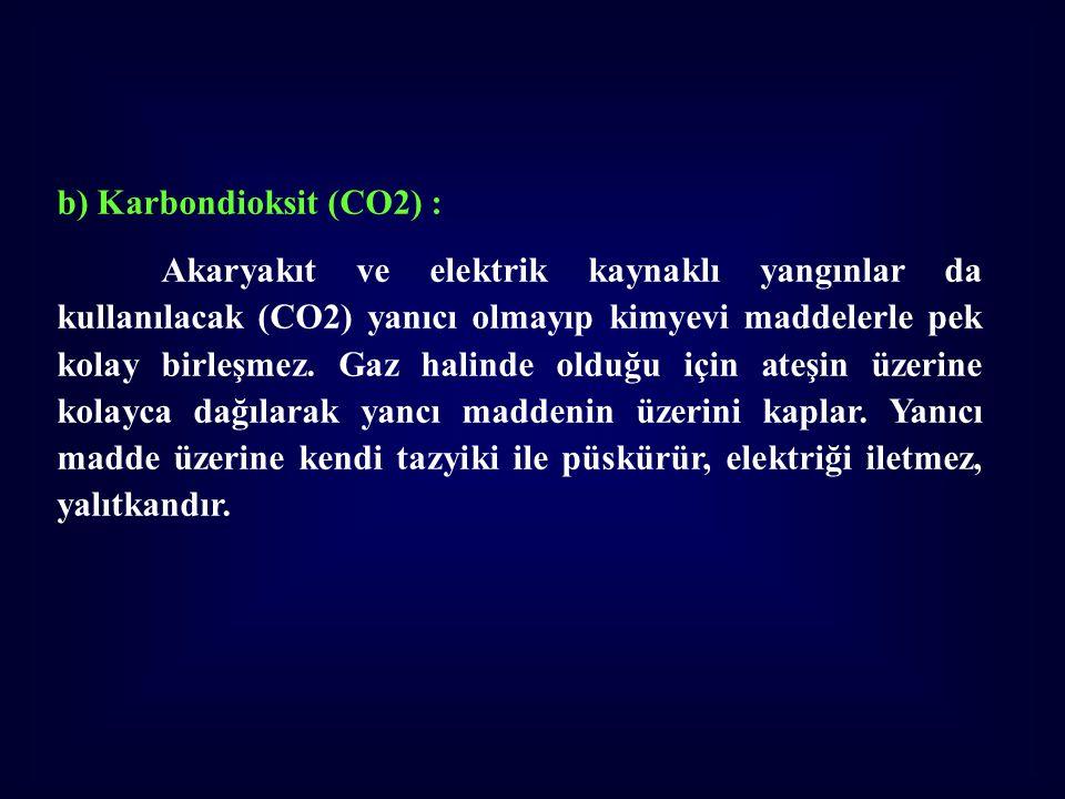 b) Karbondioksit (CO2) :