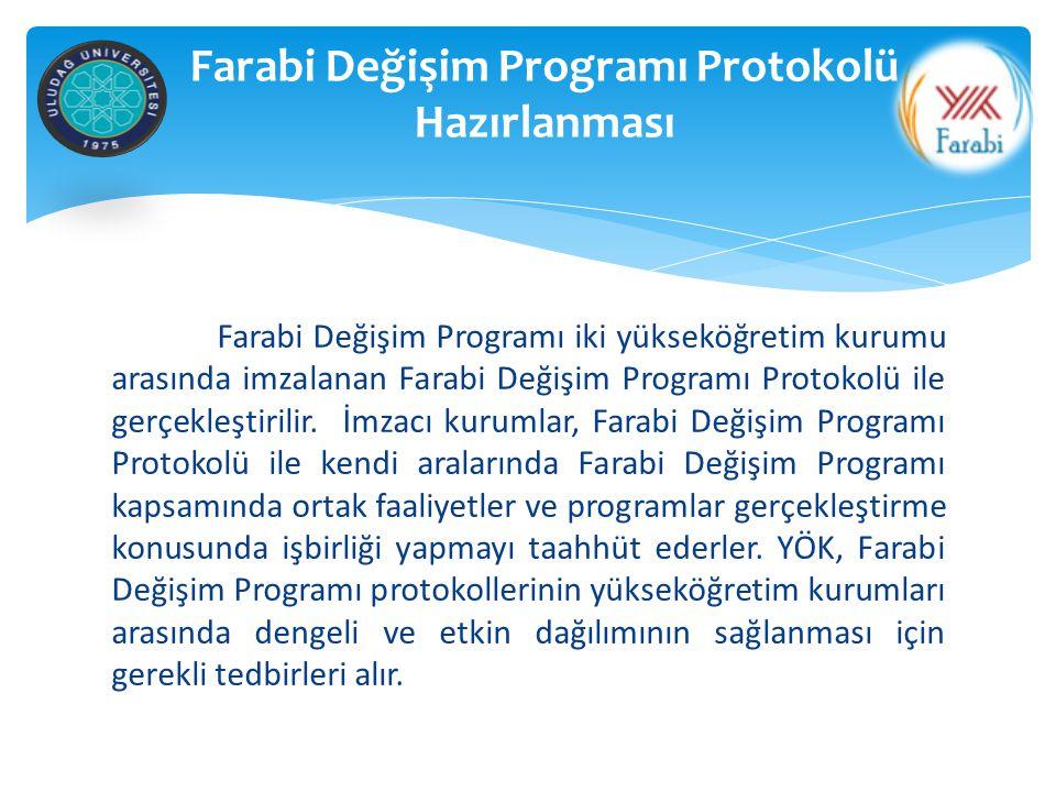 Farabi Değişim Programı Protokolü Hazırlanması