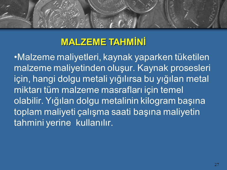 MALZEME TAHMİNİ