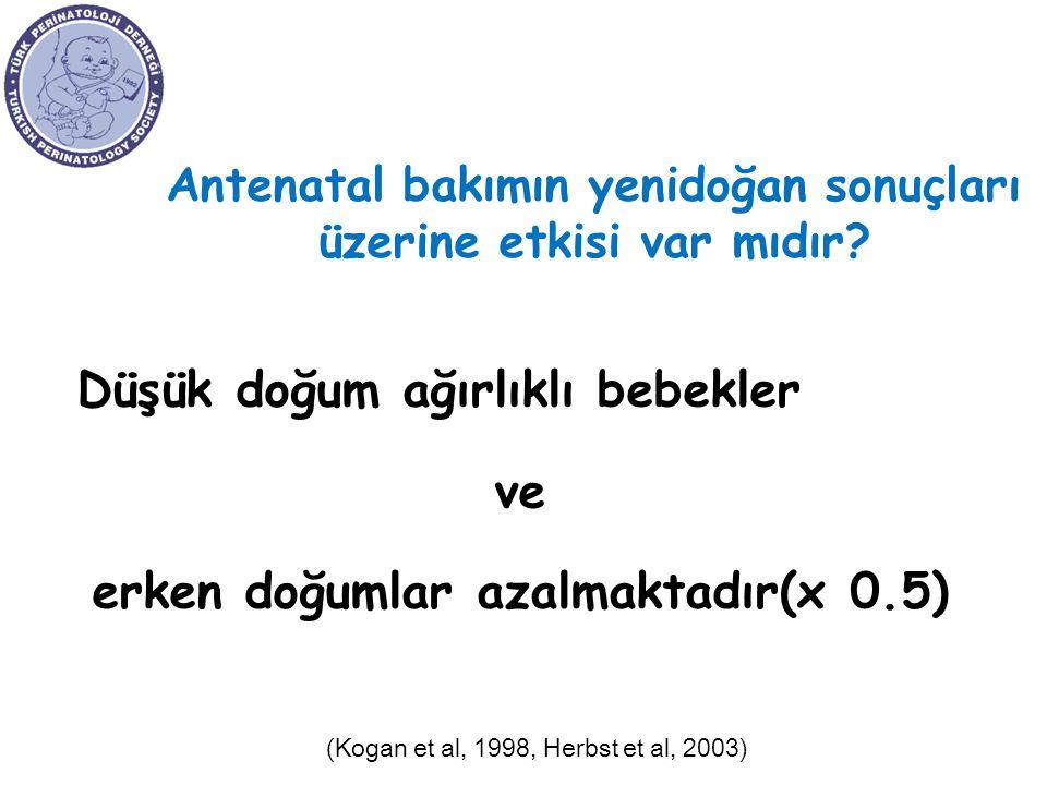 Antenatal bakımın yenidoğan sonuçları üzerine etkisi var mıdır