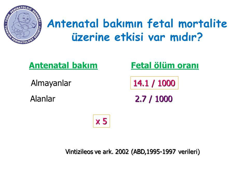 Antenatal bakımın fetal mortalite üzerine etkisi var mıdır