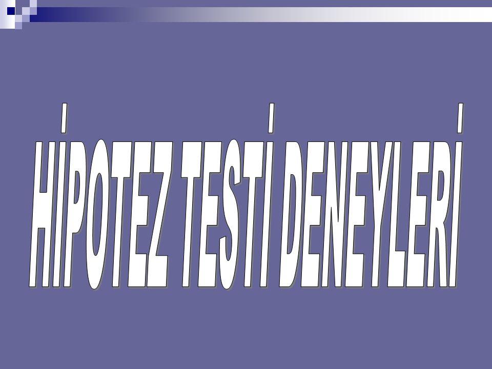 HİPOTEZ TESTİ DENEYLERİ