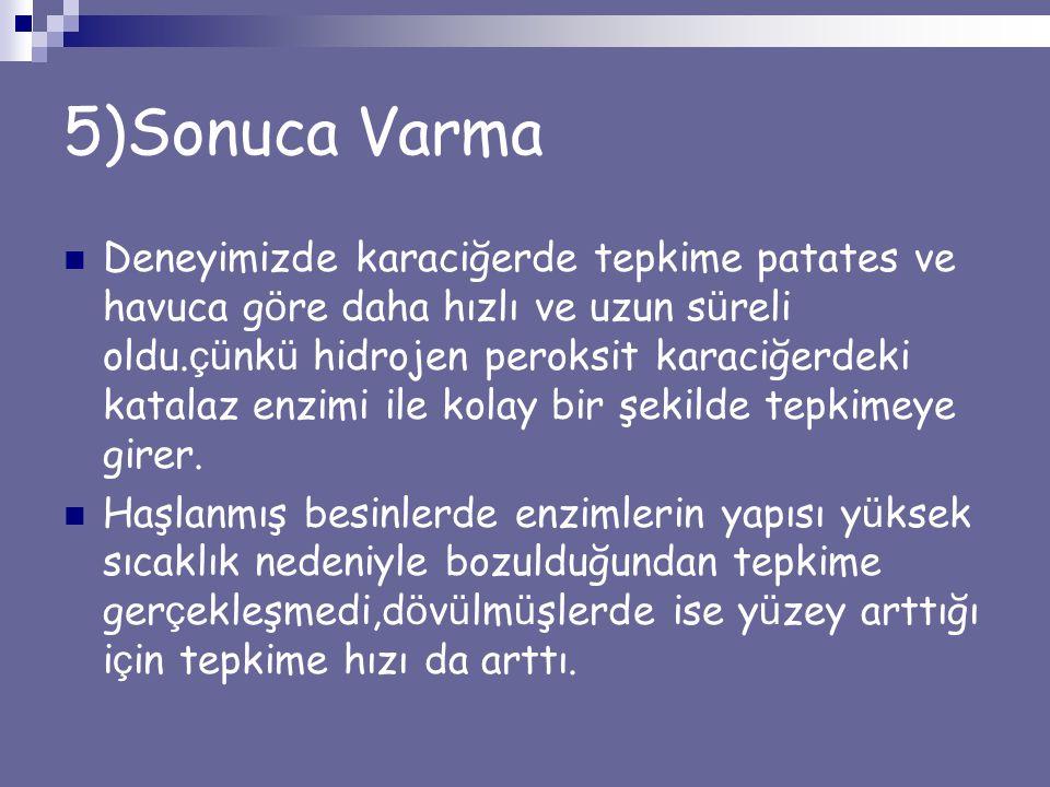5)Sonuca Varma