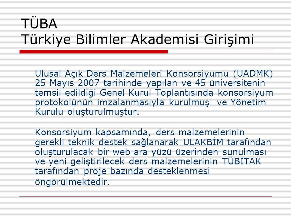 TÜBA Türkiye Bilimler Akademisi Girişimi