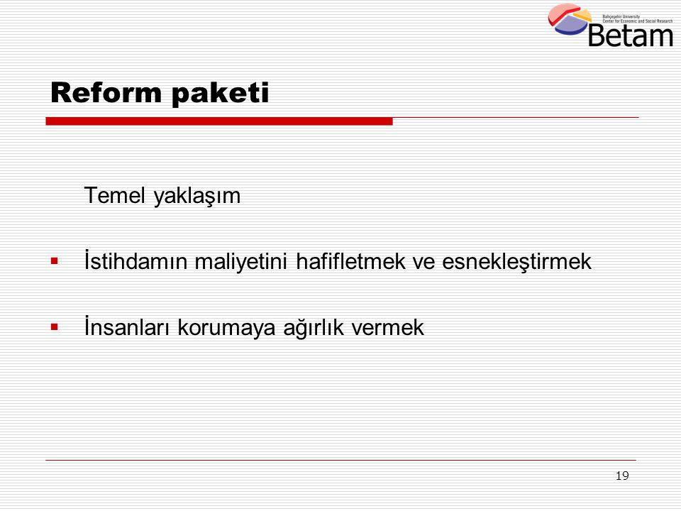 Reform paketi Temel yaklaşım