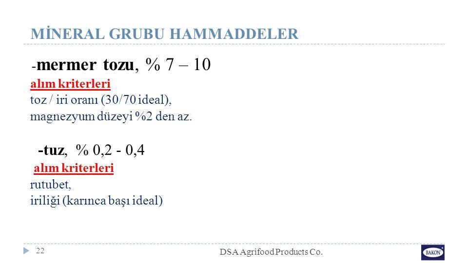 MİNERAL GRUBU HAMMADDELER