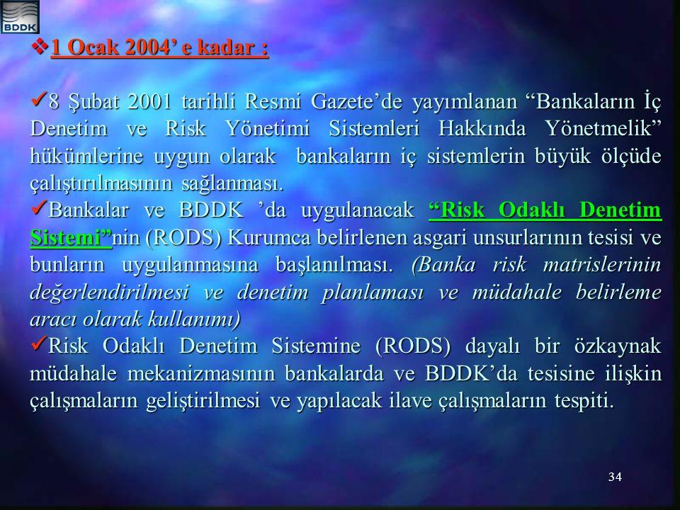 1 Ocak 2004' e kadar :