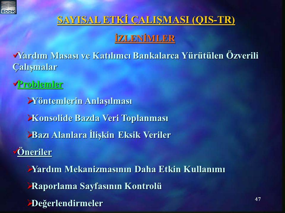 SAYISAL ETKİ ÇALIŞMASI (QIS-TR)
