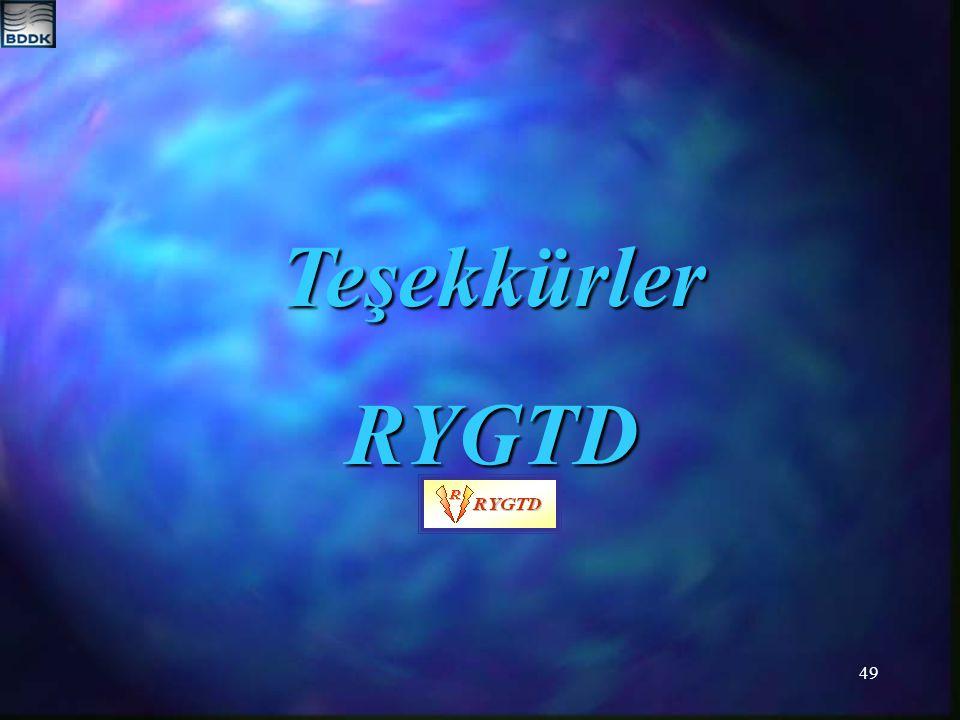 Teşekkürler RYGTD