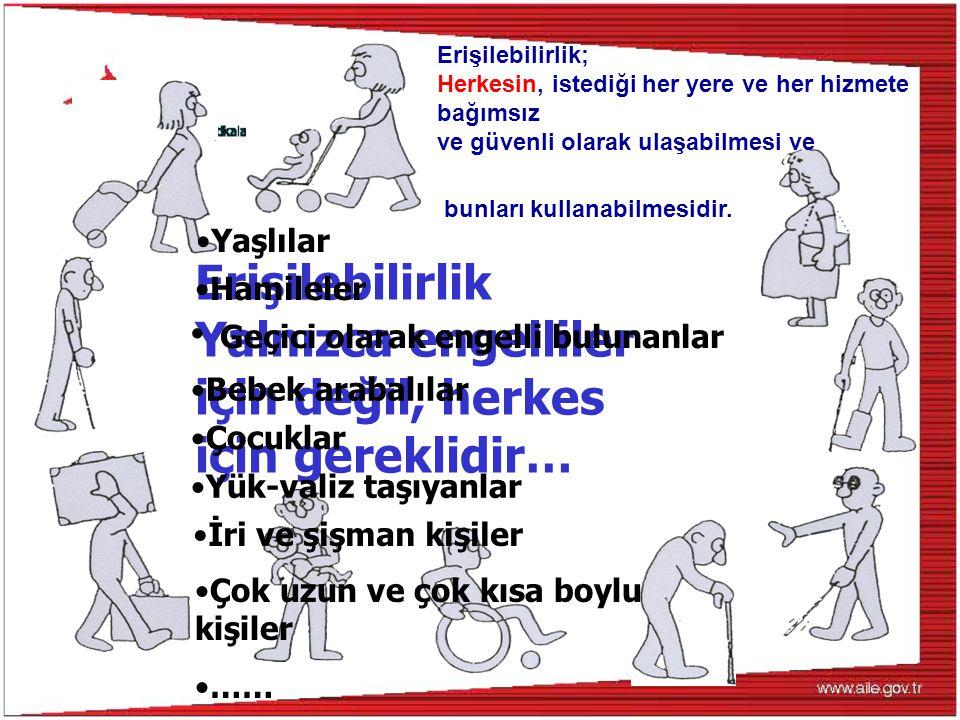 Yalnızca engelliler için değil, herkes için gereklidir…