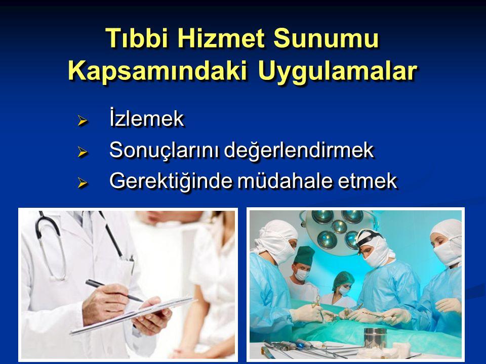 Tıbbi Hizmet Sunumu Kapsamındaki Uygulamalar