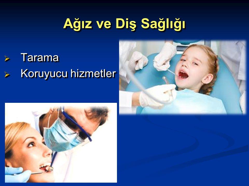 Ağız ve Diş Sağlığı Tarama Koruyucu hizmetler